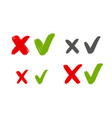 check marks sign cross mark icon vector image