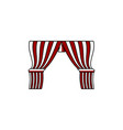 circus curtain logo designs inspiration isolated vector image vector image