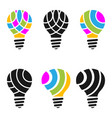 colorful light bulb vector image vector image