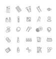 cosmetics line icons cosmetics line icons vector image