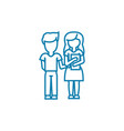 couple of students linear icon concept couple of vector image