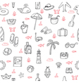 Cute hand drawn summer theme seamless pattern vector image vector image