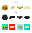 design of burger and sandwich logo set of vector image