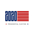 election poster inviting to vote horizontal vector image vector image