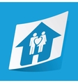 Family house sticker vector image vector image