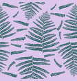 fern leaves seamless pattern vector image vector image