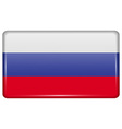 Flags Russia in the form of a magnet on vector image vector image