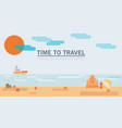 flat style land scenic sunny summer abstract vector image vector image