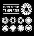 geometric symbols for laser cutting and printing vector image vector image