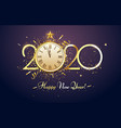 happy 2020 new year party countdown clock with vector image vector image