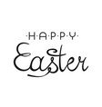 happy easter background with stylish lettering vector image vector image