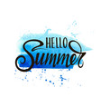 hello summer inscription vector image vector image
