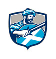 Highlander Scotsman Sword Shield Retro vector image vector image