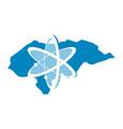 honduras technology atom vector image vector image