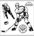 ice hockey players - set vector image