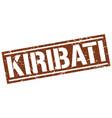 kiribati brown square stamp vector image vector image