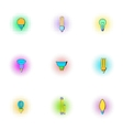 Lamp icons set pop-art style vector image
