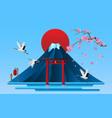 landscape japanese cultural symbols vector image