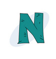 letter n cartoon vector image vector image