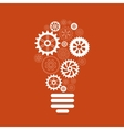 light bulb gears and cogs vector image vector image