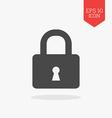 Lock icon Flat design gray color symbol Modern UI vector image vector image