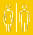 men and women toilet vector image vector image