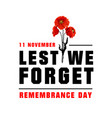 poster for remembrance day vector image vector image