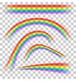 Rainbows in different shape realistic set on vector image vector image