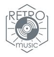 retro music logo simple style vector image