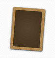 retro realistic photo frame template for your vector image vector image