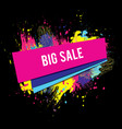 sale-black-color-paint vector image vector image