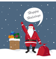 santa claus gives gifts vector image vector image