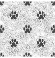 seamless cat animal paw pattern print of paw vector image vector image