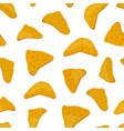 seamless nachos pattern mexican food vector image