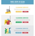 set horizontal web banners in flat style vector image vector image