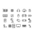 set of computers and accessories in linear style vector image vector image