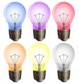 Six light bulbs vector image vector image