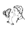 Sketch of loving couple vector image vector image