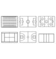 sport field vector image vector image