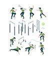 street workout outdoor gymnastic sport vector image vector image