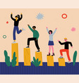 successful people celebrating victory group of vector image vector image