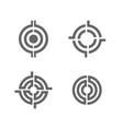 target logo set collection success center winner vector image