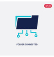 two color folder connected circuit icon from vector image vector image
