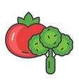 vegetables concept line icon editable vector image