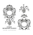 Vintage architectural decoration elements for