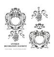 vintage architectural decoration elements vector image vector image