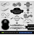 vintage calligraphic set vector image vector image