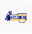 volleyball club badge logo-10 vector image vector image