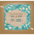 wedding invitation wooden blue vector image vector image