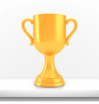winner cup award golden trophy logo isolated on vector image vector image
